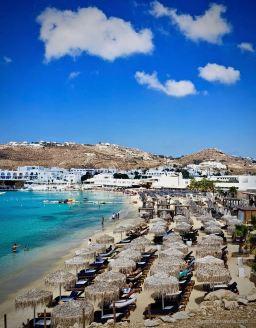 Mykonos Beach Clubs July 2018